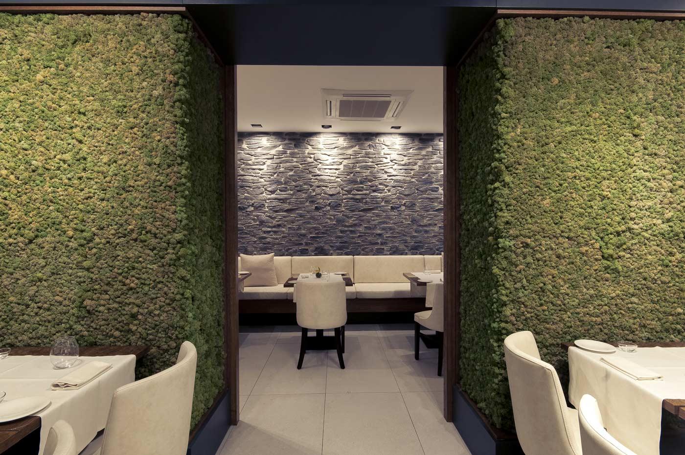 Nest Ristorante parete verde verticale